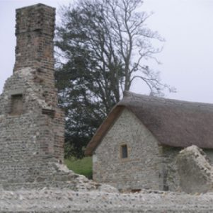 Chapel & repaired walls