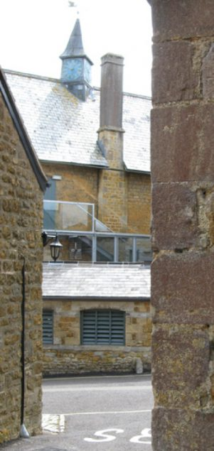 New rear stair & balcony
