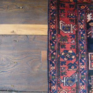 Repaired floorboards