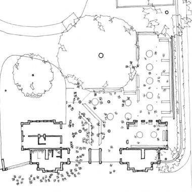 Plan of Entrance Building with New Shop to Right