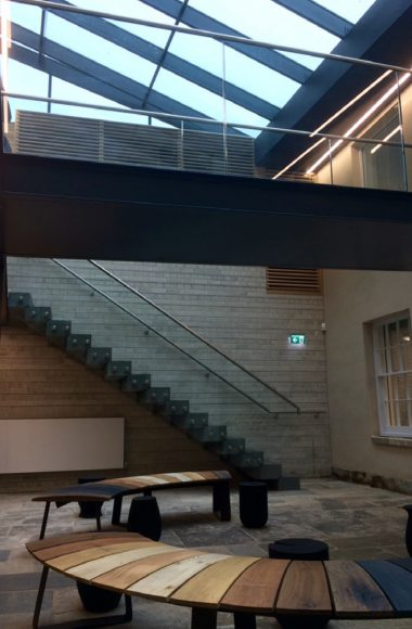 New Courtyard Stairs & Bridge