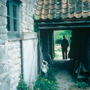 Original byre forms the porch to the front door