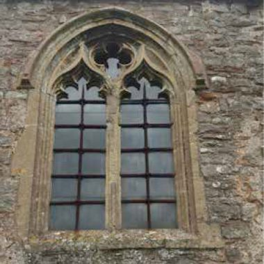 Traceried Window with Two Centred Arched Head