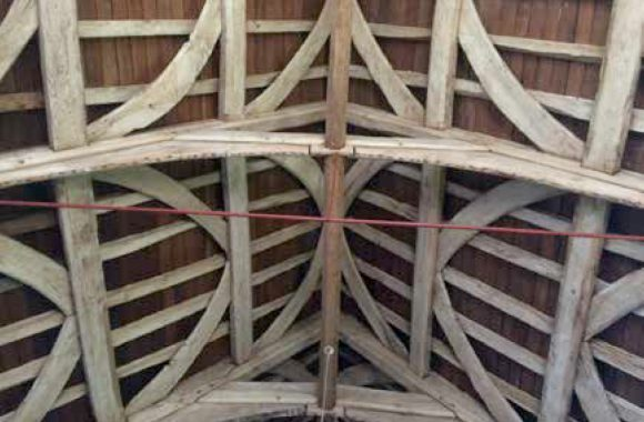 Original Oak Wind Braced Roof Structure