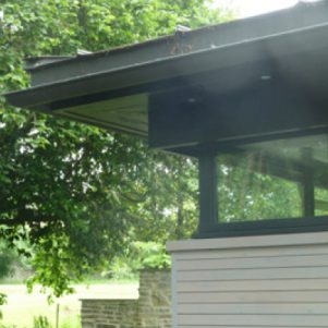 Garden room eaves