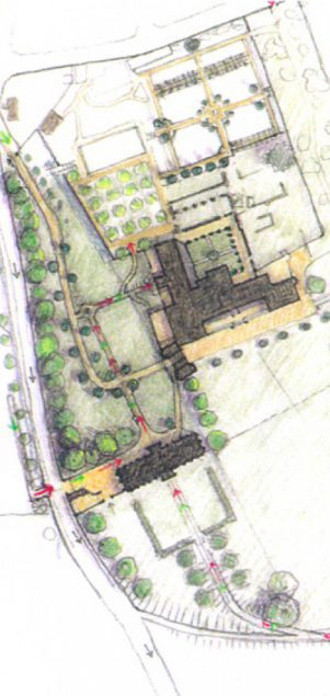 Torre Abbey site drawing