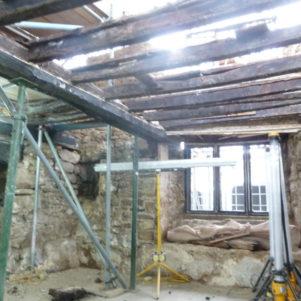 Repaired floor structure