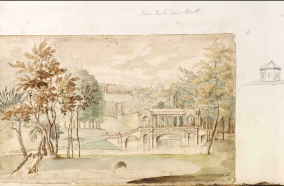 1760 drawing of the ponds